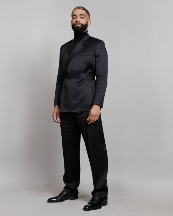 Kingsley Ben-Adir dressed in Dior by Kim Jones to the 74th British Academy Film Awards