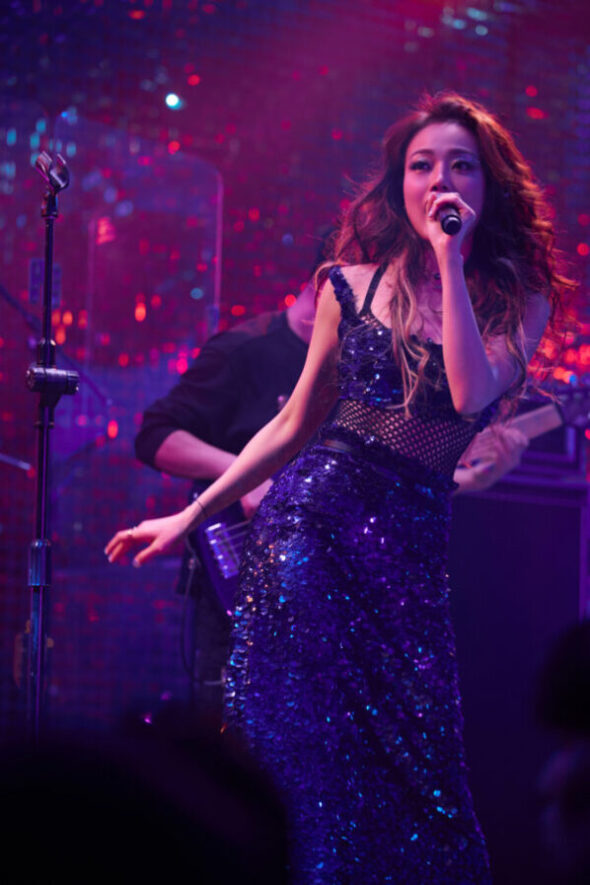 Joey Yung also took the stage at the Dior 2021 pre-match afterparty
