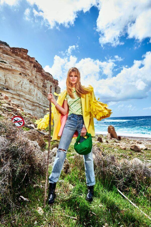 Nadine Leopold by Stefan Imielski in Paphos, Cyprus for Vogue Portugal April 2021