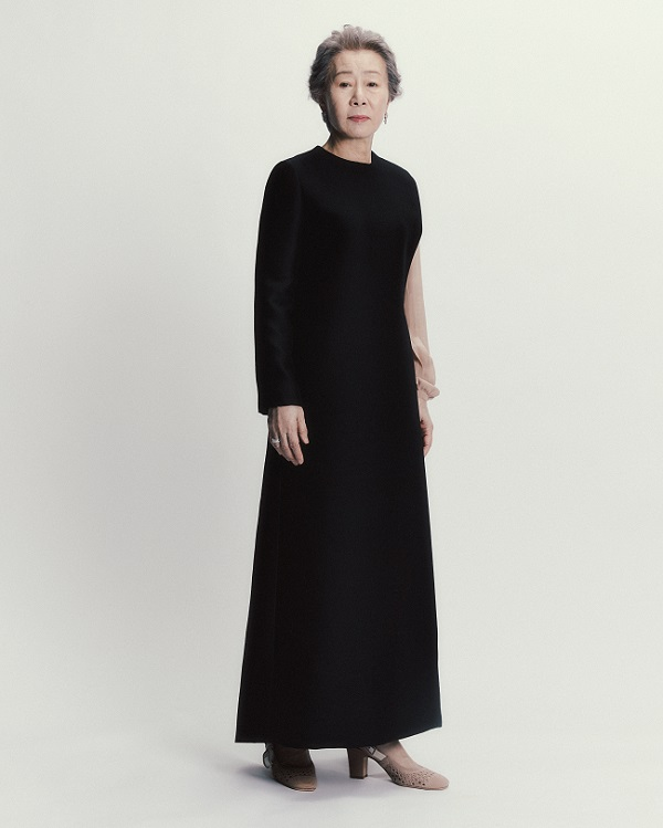 Dior presentsYoun Yuh-Jung dressed in Dior Haute Couture by Maria Grazia Chiuri for the 74TH British Academy Film Awards