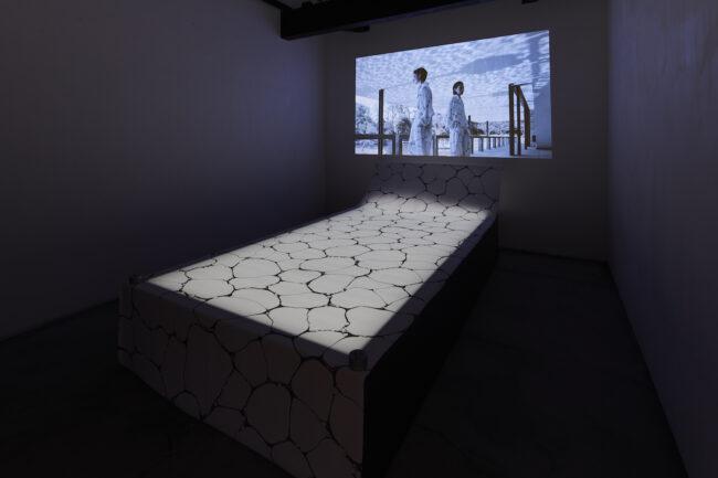 """Issey Miyake Kyoto KURA Exhibition """"Ink Marbling"""""""