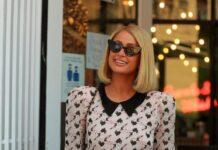 Paris Hilton in Ulyana Sergeenko