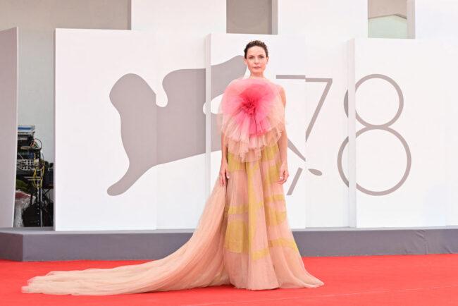 Dior presentsRebecca Ferguson and Alba Rohrwacher dressed in Dior by Maria Grazia Chiuri to the 78th Venice Film Festival